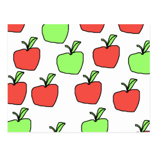 Red Apples and Green Apples, Pattern. Postcard