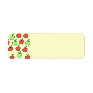 Red Apples and Green Apples, Pattern. Return Address Label
