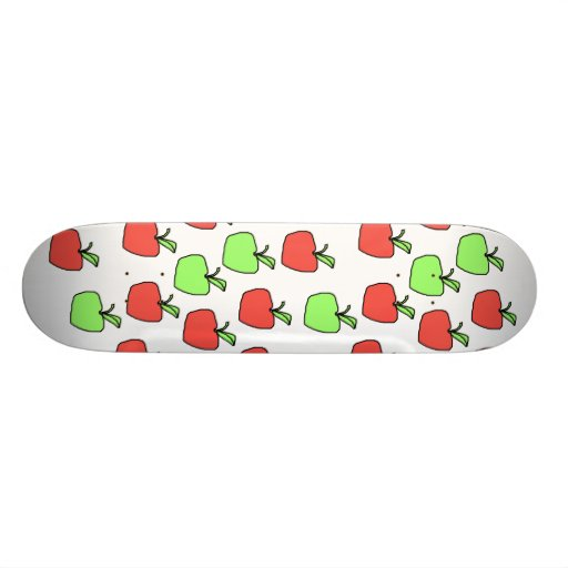 Red Apples and Green Apples, Pattern. Skate Board Deck