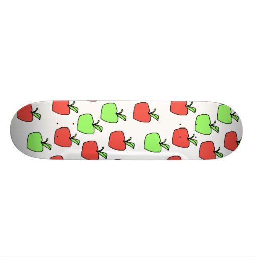 Red Apples and Green Apples, Pattern. Skate Board Decks