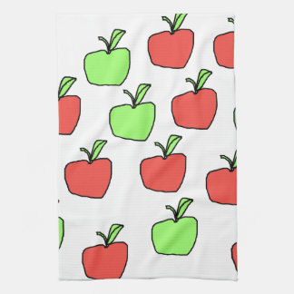 Red Apples and Green Apples Pattern. Tea Towel