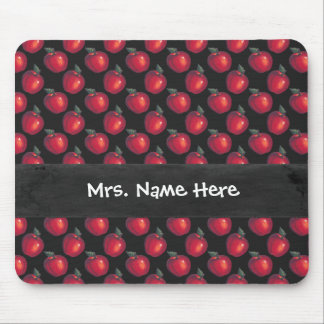 Red  Apples Black Chalkboard Mouse Pad