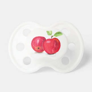 Red apples fruity painting gardener gift baby pacifiers