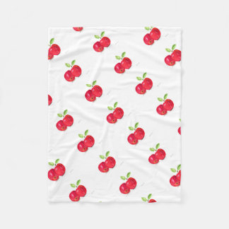 Red apples fruity painting gardener gift fleece blanket