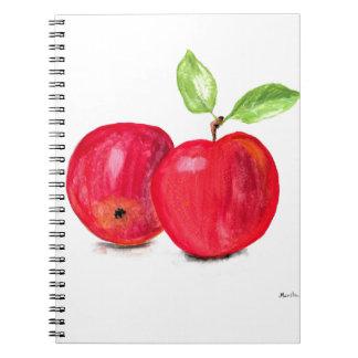 Red apples fruity painting gardener gift notebooks