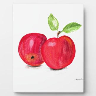 Red apples fruity painting gardener gift plaque