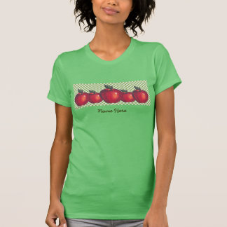 Red Apples Green Checks Shirt
