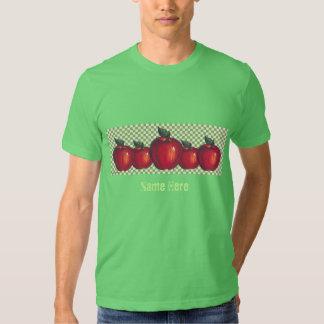 Red Apples Green Checks Tshirts