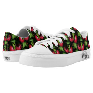 Red Apples On Tree Nature Pattern Low Tops