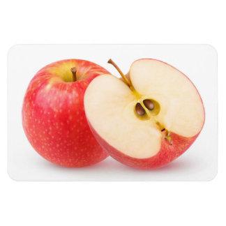 Red apples rectangular photo magnet