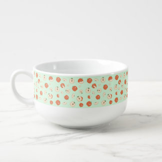 Red Apples Soup Bowl With Handle