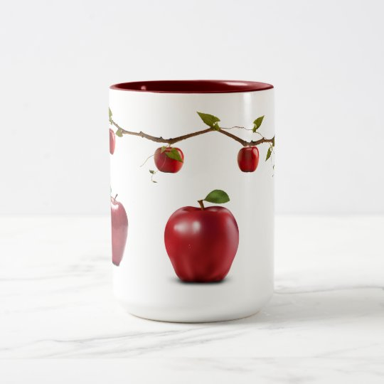 Red Apples Two-Tone Coffee Mug