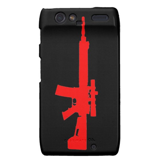 Red AR-15 Case-Mate Motorola Droid RAZR