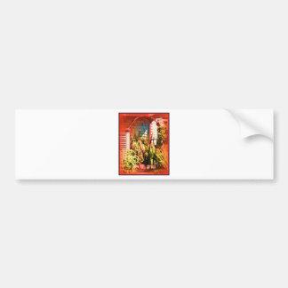 Red Arch Iron Gate Bumper Sticker