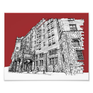 Red architectural ink photo