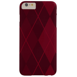 Red Argyle Barely There iPhone 6 Plus Case