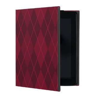 Red Argyle Case For iPad