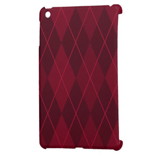 Red Argyle Case For The iPad Mini