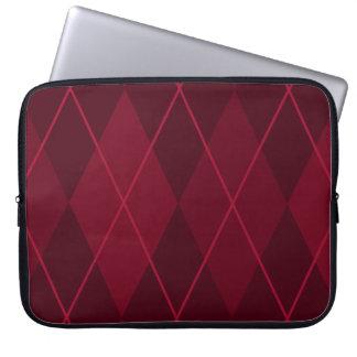 Red Argyle Computer Sleeve