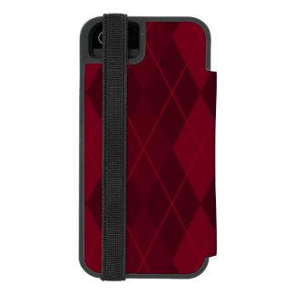 Red Argyle Incipio Watson™ iPhone 5 Wallet Case