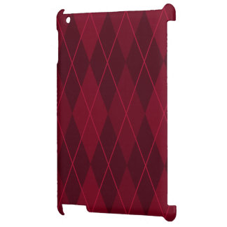 Red Argyle iPad Covers