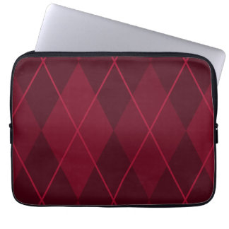 Red Argyle Laptop Computer Sleeves