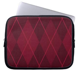 Red Argyle Laptop Sleeves