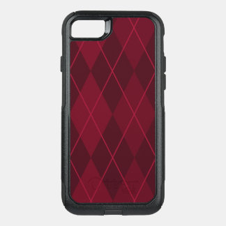 Red Argyle OtterBox Commuter iPhone 8/7 Case