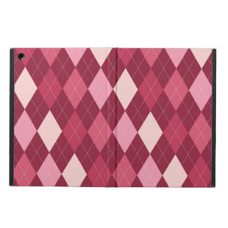 Red argyle pattern iPad air cover