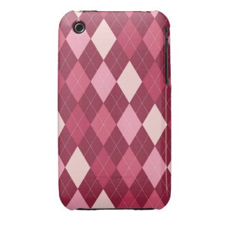 Red argyle pattern iPhone 3 cover