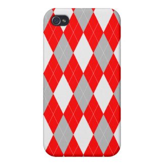 Red Argyle Pattern iPhone 4/4s Case