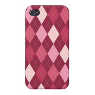 Red argyle pattern iPhone 4 cover