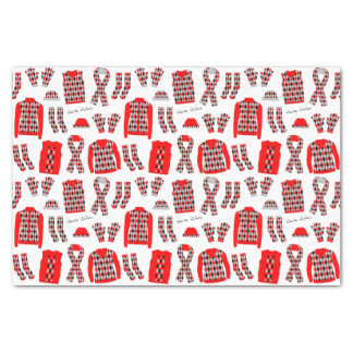 Red Argyle Pattern Items Tissue Paper