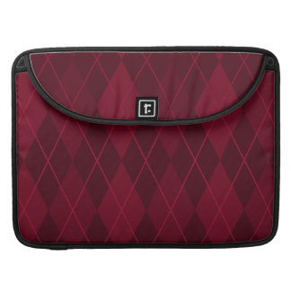 Red Argyle Sleeve For MacBook Pro