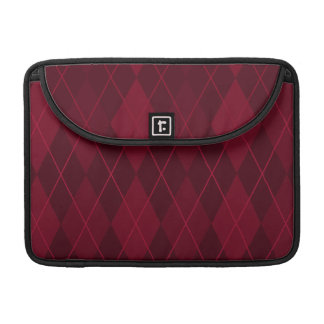 Red Argyle Sleeve For MacBooks