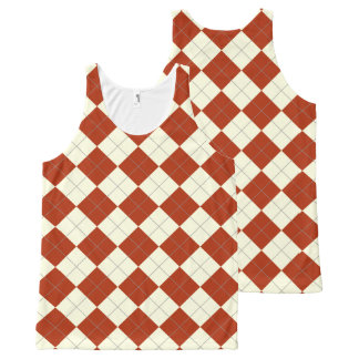red argyle tank top All-Over print tank top