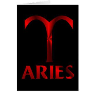 Red Aries Horoscope Symbol Greeting Card