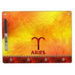 Red Aries Horoscope Symbol Dry Erase Whiteboards