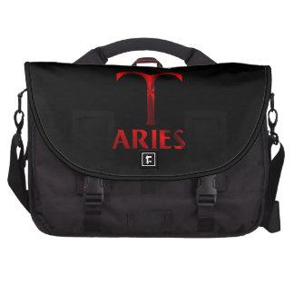 Red Aries Horoscope Symbol Laptop Bag
