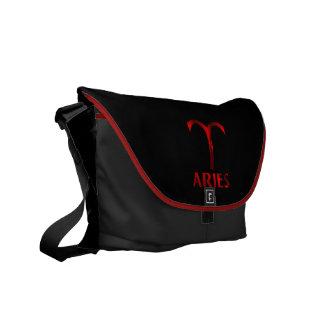 Red Aries Horoscope Symbol Commuter Bag
