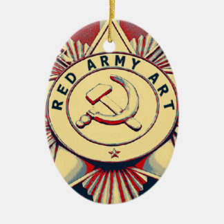 RED ARMY ART CERAMIC OVAL DECORATION