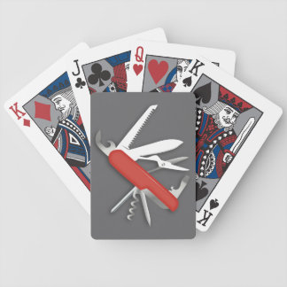 Red Army Knife Deluxe Bicycle Playing Cards