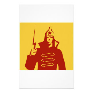 Red Army Soldier Custom Stationery