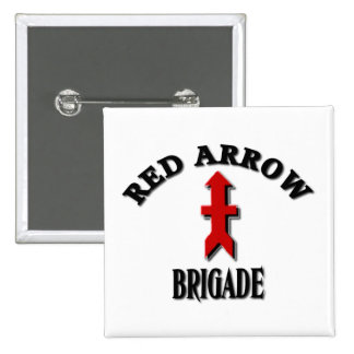 Red Arrow Brigade Military 15 Cm Square Badge