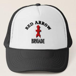 Red Arrow Brigade Military Trucker Hat