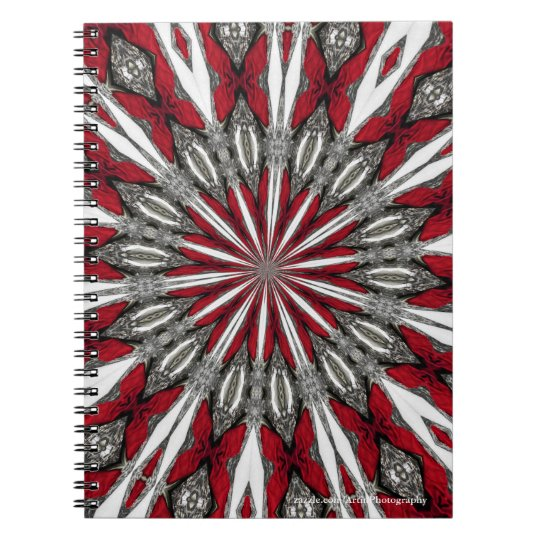 Red Arrow Medallion Spiral Photo Notebook