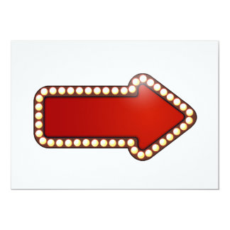 Red Arrow With Lights Invitations