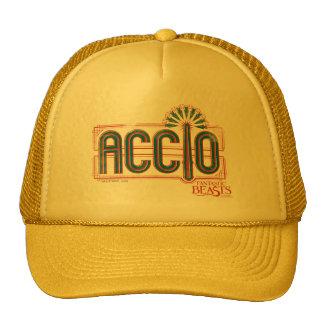Red Art Deco Accio Spell Graphic Cap