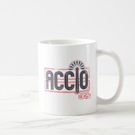 Red Art Deco Accio Spell Graphic Coffee Mug