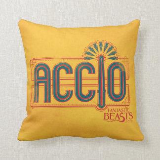 Red Art Deco Accio Spell Graphic Cushion